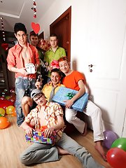 Gay nude groups and teen jerking gay men group at Crazy Party Boys