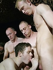 Unswerving it's crude and foul sounding � but its such a grubby and descriptive piece of slang and it surmises this filthy gang bang scene with A