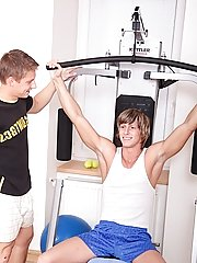 Marcel spots Joey in the gym then rewards him for a lofty workout by sucking down his cock twink gay male escort