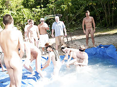 as castigation for losing those unfortunate pledges had to engulf each their off in front of their brothers and fellow pledges group nude shower andno