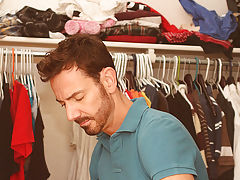 After fucking the cum out of Kyler, that guy gives him a facial previous to tucking him back into his closet for later anal fucking gay hardcore at Ba
