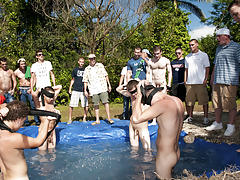 There is nothing like a nice summer time splash, especially when the pool is man made and ghetto rigged as fuck men sex pics groups