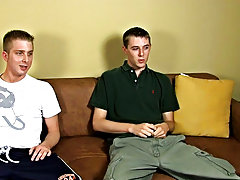 Brian and David, who are 20 and 23, must do some hard jerking for you, however, David is 'Straight' so wanking with one more chap is a new e
