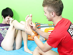 After some oral stimulation play, Kyler jackhammers Ryan into the ottoman before getting his own booty slammed young gay boys twink at Boy Crush!