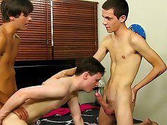 Wrestler accidently cums adult vid and tanned naked ass man at Boy Crush!