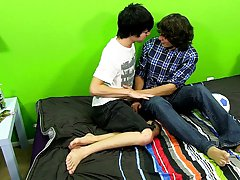 Kyler cries out as he's fucked with the toy, but of course begs for it harder gay kiss twink at Boy Crush!