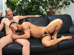 Gays in group porno and gay group circle jerk off