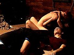 Boy runs naked in movie and bisexual emo dude masturbating - at Boy Feast!