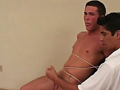 He doesn't appear to be to mind as his teats are tweaked and he moans out loud