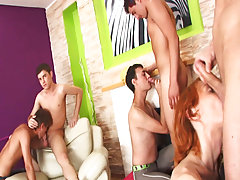 Nude male group photos and gay group sex anal at Crazy Party Boys
