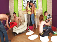 Men group masterbating and naked male celeb groups at Crazy Party Boys
