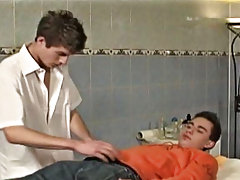 Then, with his patients hole already lubed, Garret works his thick hard-on into Chris and gives him a full prostate examination; on his back and on hi