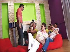 Gay asian group and group guy sex at Crazy Party Boys