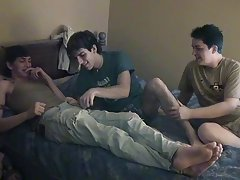 Eventually James climbs on Chad's dick, cumming whilst this chab rides it gay twink freevideo - at Boy Feast!