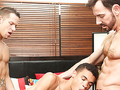 Rimmed out and fed plenty of cock, youthful Robbie Anthony is swapped between them as they slide into his butt and throat and work their way to a thre