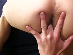 Teen boy receives anal orgasm and male anal site