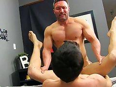 Gay boy comic sex in cartoon and licking spunk from gay mens cocks close up at Bang Me Sugar Daddy