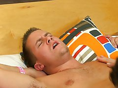 Slender gay man in panties and black young man cums inside boy at My Husband Is Gay