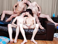 Older men hairy dick and sexy straight emo boy jacking off at Staxus