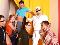 Amature gay group sex and free male masturbation group at Crazy Party Boys