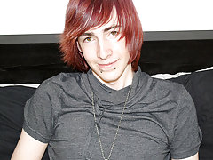 Andy Roberts really stands out with his pale skin and unfathomable red hair boy sex gallery at Homo EMO!