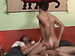 Take a peek at these 2 enjoying their private moments at home gay twink smooth shaved