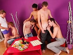 Max decided to diversify that sushi-party masterbation male groups at Crazy Party Boys
