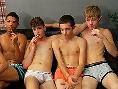 Twink gay orgy