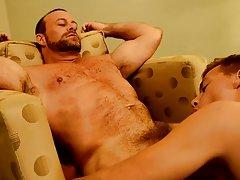 Sex gey with close anal and masturbation procedures at Bang Me Sugar Daddy