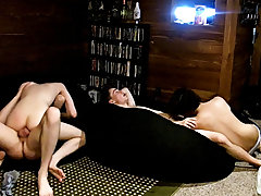 Young sexy gay men jerk and black model showing their cock - at Boy Feast!