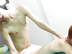 Gay masturbation licking sperm film at Boy Crush!