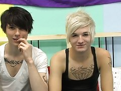 Hairless naked twink photos and gay leather twink make out at Boy Crush!