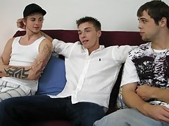 Mike coated Ashton's upper body, his cum mixing in with Diesal's teen gays group