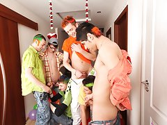 Blue man group megastar and free male masturbation group at Crazy Party Boys