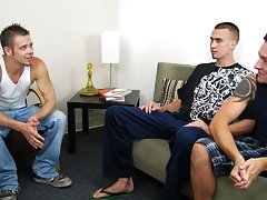 Teen brothers jerking off and show straight younger men fucking older gay men at Straight Rent Boys