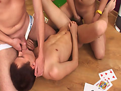 Male gay art group and gays in group sex at Crazy Party Boys