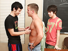 Kyler Moss and Ryan Sharp have seen the way their teacher, Drake Mitchell, eyes 'em in class, so they resolve to make their move his first gay se