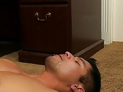 After face fucking and eating his ass, Mitch fucks Spencer hard on the desk, in the chair, and even in doggy on the floor thick gay hunk at My Gay Bos