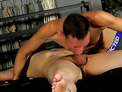 Man getting blowjob by fish and hot emo bondage - Boy Napped!