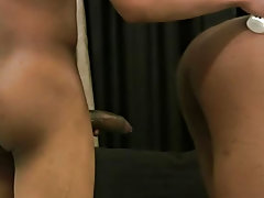 Naked black college men and white men eating black pussy