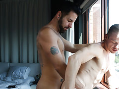 Gay black wide open anal and face before after masturbation pics at My Gay Boss