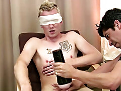 You can witness that he enjoys the idea and he embarks to stroke his own spear for a bit with the blindfold on. Mr. Hand then takes over once again ma