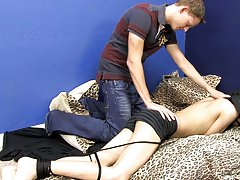 Daniel is cock-hungry and the only one that can feed him is John superman gay bondage sex porn at Boy Crush!