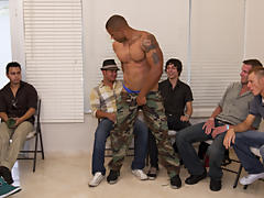 Gay group masturbation video and gay group shower at Sausage Party