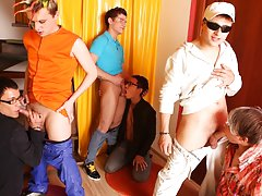 Fraternity gay group sex videos free and free gay group sex pics at Crazy Party Boys
