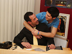 Check out the leaping cum load the guys takes all over his face at the end hardcore gay fucking at Teach Twinks