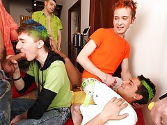 Male masturbation newsgroups and gay group blowjob at Crazy Party Boys