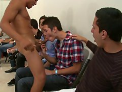 Gay male strip groups and hairy group sex gay at Sausage Party