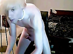 When that guy cums, this chab spurts thick warm cum all over his hand his first huge cock present - at Boy Feast!