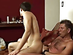 The boy's older lover and sex guru was just back from the gym, his body stationary holding the freshness of the shower nude fucking boys
